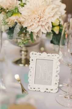#table-numbers  Photography: Carlie Statsky Photography - carliestatsky.com  Read More: http://www.stylemepretty.com/2014/06/10/outdoor-elegance-at-the-kohl-mansion/