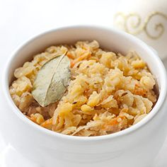 Groch z kapustą - wigilijna kapusta z grochem Polish Recipes, Polish Food, Cooking Tips, Macaroni And Cheese, Chili, Bacon, Soup, Ethnic Recipes, Xmas