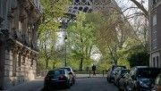 hd street near eiffel tower wallpaper download