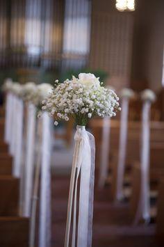 Hochzeit Helen & Renato - Wedding Details - Church - Dekoration Kirche Blumen