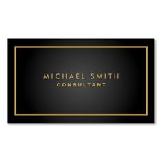 Professional Elegant Black Plain Modern Simple Double-Sided Standard Business Cards (Pack Of 100)