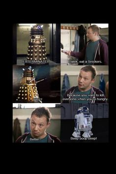 This is hilarious. Doctor Who and Star Wars.