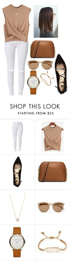 """need to get this outfit right now"" by kyleemorrison ❤ liked on Polyvore featuring River Island, Michael Kors, Adina Reyter, Yves Saint Laurent, Marc by Marc Jacobs and Kendra Scott"