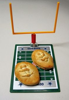 """""""Barbecue Chicken and Bacon Footballs"""" -- made with crescent rolls"""
