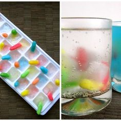 Gummy worm ice cubes. Could be useful for adult Halloween parties. ;)