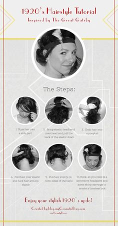 Recreate this glamorous Gatsby inspired hairstyle! http://blog.mycosmeticbag.com/photo-looks/the-great-gatsby-inspired-hairstyle