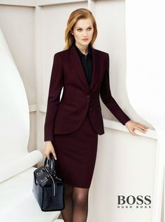 381d6b8e54bd1b office uniform designs women s suit Burgundy Girls Interview Skirt Suits  Custom Made Knee Length Pageant Party Work Costumes · Hugo Boss ...