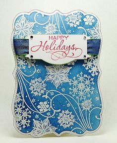 Happy Holidays by Elizabeth Allan's Art Studio, via Flickr.  Additional details available at:  http://elizabethallan-blog.blogspot.com/2012/12/snowy-holiday-greetings.html