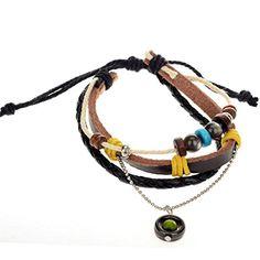 Yantu 1pc Wood Multicolor Beads Adjustable Drawstring Wirstband Leather Circle Bracelet YANTU http://www.amazon.com/dp/B00N76G02Q/ref=cm_sw_r_pi_dp_U3Wpvb0NAB4V3