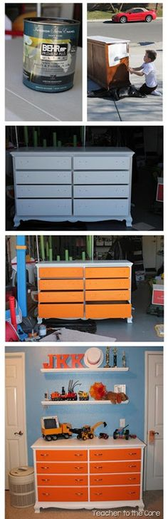 How to do a Dresser Makeover / Refurbish Furniture. No sanding.... Just Home Depot paint and a few hours!