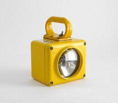 Vintage Yellow Navy Ship Lantern