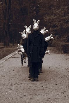 Creepy Scary Rabbit Mask, Burlap Scarecrow Zombie Easter Bunny Adult Halloween Costume, Killer Animal Horror Mask for Masquerade Arte Obscura, Dark Photography, Creepy Photography, Photography Articles, Photography Gallery, National Photography, Arte Horror, Macabre, Dark Art