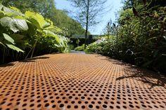 Perforated Corten walkway