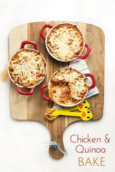 and Quinoa Bake Chicken and Quinoa Bake. A great simple family dish and great way to introduce quinoa to kids. Ready in an hour! Quinoa Recipes For Kids, Healthy Lunches For Kids, Baby Food Recipes, Snack Recipes, Healthy Recipes, Turkey Recipes, Kid Recipes, Family Recipes, Snacks