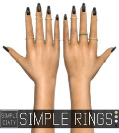 SIMPLE RINGS at Simpliciaty via Sims 4 Updates