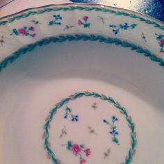 Bernardaud vert. My pretty dishes - @tamarastephenson- #webstagram