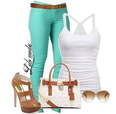Mint Wash #Skinny #Jeans, See more info. about this items here: http://lolomoda.com/fashionable-outfits-for-summer-2014/