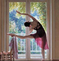 I would enjoy barre work a lot more if I had a view like that.