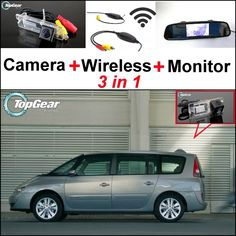 77.13$  Buy here - http://ali3af.worldwells.pw/go.php?t=32469325312 - 3 in1 Special Camera + Wireless Receiver + Mirror Monitor EASY DIY Parking System For Renault Espace 4 2003~2014