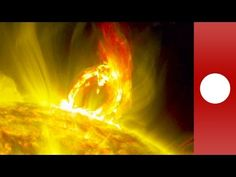 NASA footage: Sun erupts blasting out solar material