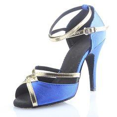 Customizable+Women's+Dance+Shoes+Latin/Ballroom+Satin+Customized+Heel+Purple/Red+–+EUR+€+24.49