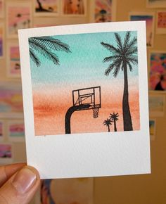 Robert talbot on paintbrush polaroid 31 3 19 3 25 3 pointer paper used acid free paints bridgeman green brushes daler_rowney Cute Canvas Paintings, Small Canvas Art, Mini Canvas Art, Mini Paintings, Aesthetic Painting, Aesthetic Art, Doodle Art, Cute Art, Creative Art