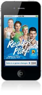 Australian Open App - Free.  Available for iPhone and Android.