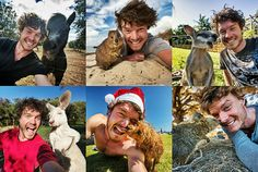 This Animal Selfie Expert is Giving Us New Travel Goals