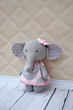 Textile elephant elephant ragtoy elephantElephant by NilaDolss