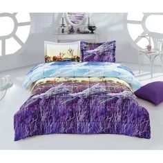 Features:  -Pattern: 3D Print.  -Set Includes (Twin): Comforter and 1 standard sham.  -Set Includes (Queen/King): Comforter and 2 standard shams.  Product Type: -Comforter/Comforter set.  Style: -Tran