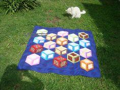 cubos tridimensionais patchwork - Pesquisa Google