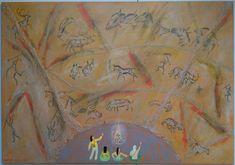 Chauvet Cave Art Print by Manuel Galveias - X-Small Chauvet Cave, Art Prints, Painting, Oil, Products, Art Impressions, Painting Art, Paintings, Painted Canvas