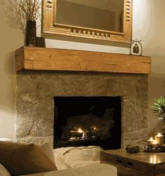 Ask a Fireplace Specialist:  If you have a custom surround, or don't want to cover up a large part of your wall, a mantel shelf is the way to go. The mantel shelves available from Pearl Mantels can add style, storage or just complete the feel of a traditional fireplace set up. The Lexington Shelf has decorative elements that create a rustic, distressed look, down to the raw edging and decorative scoring. And you have a choice of unfinished or Medium Rustic Distressed finishes, you can…
