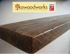 RECLAIMED CHUNKY FLOATING SHELF SHELVES WOODEN. #kowoodworks #RECLAIMEDCHUNKYFLOATINGSHELFSHELVESWOODEN