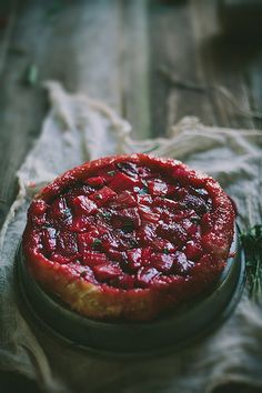 Strawberry Rhubarb & Tarragon Tarte Tartin