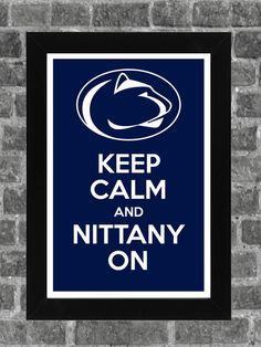 Keep Calm Penn St Nittany Lions NCAA Print Art by PortlandInkery, $14.99