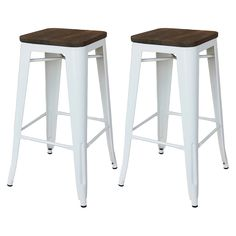 """Threshold™ Hampden Industrial 29"""" Barstool with ... : Target"""