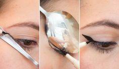 5. Domina la técnica del ojo de gato con una cucharaç