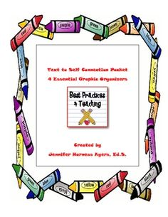 This download consists four text to self graphic organizers.  This center helps reinforce the use of text-to-self connections and can be used with ...