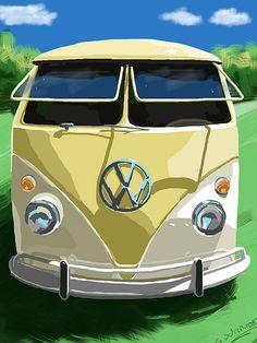 VW Camper Van Art #kombilove