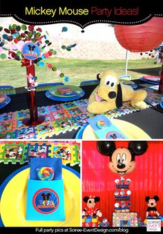 Mickey Mouse Birthday Party Ideas www.spaceshipsandlaserbeams.com