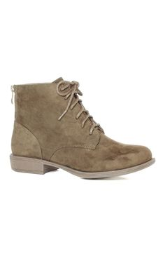 Taupe Suede Lace-Up Boots-primark