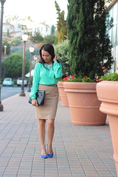 Green and Camel 1 by Stylish Petite, via Flickr