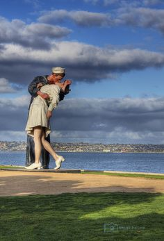 "Iconic statue ""Unconditional Surrender"" in downtown Sarasota, Florida"
