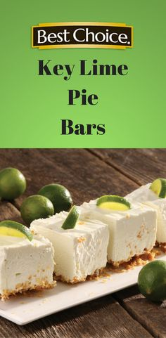 Tangy & sweet Key Lime Pie Bars are perfect for your next get-together. | Best Choice