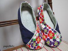 Women's Kimono Shoes - pattern by ithinksew.com