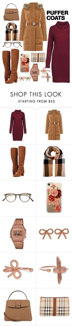 """Pufff look"" by veroprado27 ❤ liked on Polyvore featuring DUBARRY, Phase Eight, Burberry, Oliver Peoples, Casetify, G-Shock and Olivia Burton"