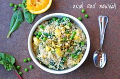 {Sweet Sticky Coconut Quinoa} | Nosh and Nourish