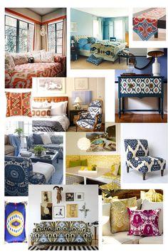 ikat   pattern   furniture