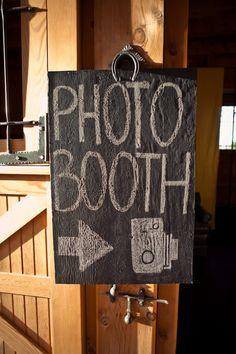 Photo Booth Sign  http://rusticweddingchic.com/colorado-rustic-wedding-blue-valley-ranch